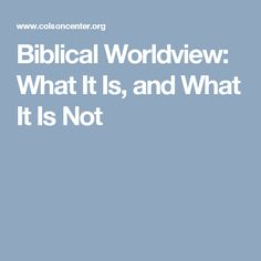 Christian worldview thesis statement