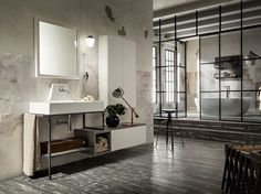 Lacquered single vanity unit URBAN PLAY 24/25 PLAY NEW Collection by Cerasa design Stefano Spessotto, Lorella Agnoletto