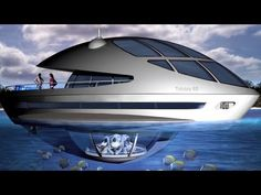 A yacht with an underwater home - awesome! #yacht #technology