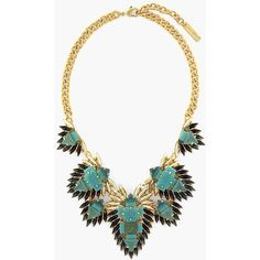Dozens of marquis-cut stones fringe an eye-catching statement necklace flashing warm aqua, gold and black hues. Brand: VINCE CAMUTO. Style Name: Vince Camuto '…