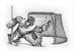 Week 5. Pin 2. Another Hockey Subject. Pen and Ink. I photographed hockey all weekend, so this makes me think of all the wonderful images I captured.
