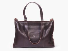 Brown Leather Tote Beverly Brown / Large Shopper