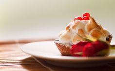 Berries and Cream Dessert | cream cake berries dessert cookies sweets dessert dessert candies ...