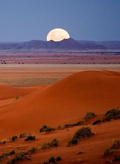 Beautiful Nature (Moonrize over Dina, pro-Namib plains, Africa, by…) Beautiful Moon, Beautiful World, Beautiful Places, Shoot The Moon, Amazing Nature, Belle Photo, Beautiful Landscapes, Wonders Of The World, Moonlight