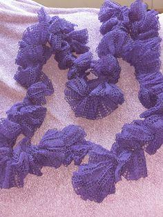 Ravelry: mandi76's Purple Lacey Scarf