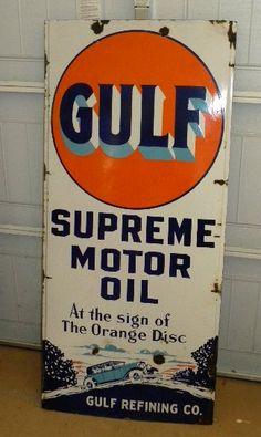 Porcelain+Highway+lighthouse+sign | PetroJoe.com Sold Signs Cloc… SOLD: Gulf Ligh…