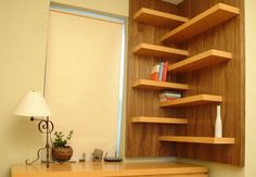 Modern interior design with wall shelves offers many attractive and stylish storage solutions