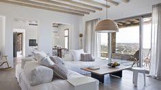 Villa de rêve Grèce salon vue
