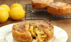 Meyer lemon pie with apricot jam 1