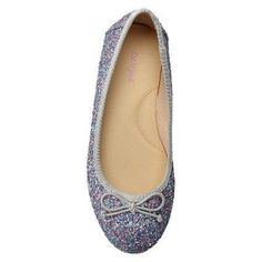 Girls' Berta Glitter Ballet Flats Cat & Jack - Multi-Colored 4, Girl's, Multicolored