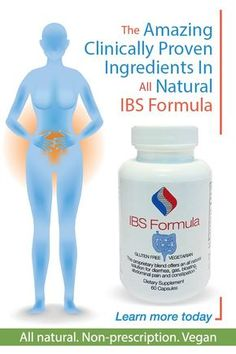 Amazing clinically proven ingredients in all natural IBS Formula