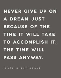 Never give up on a dream just because at http://quoteforest.com/index.php/posts/Never-give-up-on-a-dream-just-because-59580