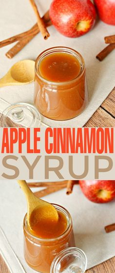 This Apple Cinnamon Syrup recipe is fabulous poured over pancakes, waffles, cheesecakes and ice cream. It's a sweet autumn treat that is super versatile as a syrup and sauce. Homemade Syrup, Homemade Sauce, Cinnamon Syrup, Cinnamon Apples, Cinnamon Rolls, Apple Recipes, Fall Recipes, Pancakes And Waffles, Pancakes Cinnamon