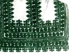 Embroidery on traditional clothing from the region of Biłgoraj, Poland.