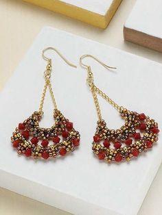 Swing Time Earrings Beadwork Project