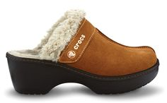 Hmm.. I think real crocs are the ugliest shoe in the world, but these look cute, and warm, and comfy!  Hmm.. might have to try them on!