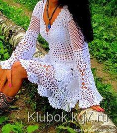mis pasatiempos  amo el crochet¡¡¡¡:): Túnica blanca de la Web ,con patrones para verlo d...
