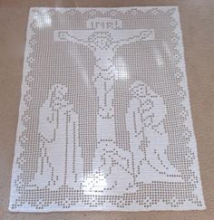 Looking for your next project? You're going to love The Crucifixion Filet Crochet Pattern by designer Michelle D Bell.