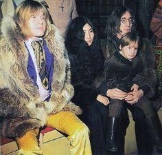 #Brian Jones  #Yoko Ono  #Julian Lennon  #John Lennon  #Rock and Roll Circus  #peacock style  #fur