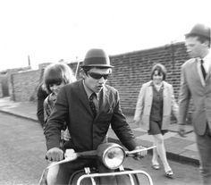 60s mods and scooters #paulfrank #influences #60s #mod