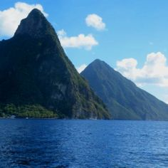 the diving here was spectacular! When u come up you have this beautiful mountain looming before you! Castries St Lucia, Pitons St Lucia, Places To Travel, Places To See, All Inclusive Resorts, Hotel Reviews, Trip Advisor, Caribbean, Island