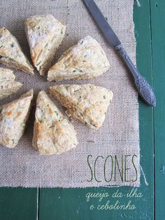 Cheese and chives wholemeal scones