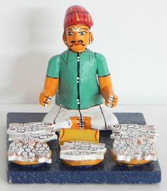 Fish Seller - Kondapalli Doll (Wood))