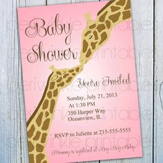 Printable Baby Shower Invitation INSTANT by PeriwinklePrintables