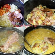 Ciorba ardeleneasca Romanian Food, Romanian Recipes, Saveur, Bacon, Food And Drink, Cooking Recipes, Chicken, Bracelet, Patterns