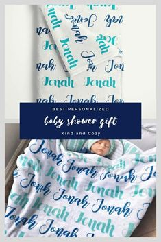 Create your own personalized baby blanket! Baby Blanket Size, Baby Boy Blankets, Blanket Sizes, Baby Boy Monogram, Sprinkle Shower, Personalized Baby Blankets, Baby Kind, Boy Names, Shower Ideas