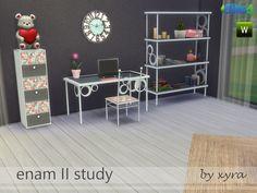 Enam II study set by xyra33 at TSR via Sims 4 Updates