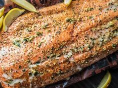 Grilled Salmon Recipes, Baked Salmon Recipes, Fish Recipes, Seafood Recipes, Traeger Recipes, Grilling Recipes, Cooking Recipes, Smoker Recipes, Garlic