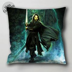 Lord of the Rings Art Clash of Kings Aragorn pillow case, cushion cover ( 1 or 2 Side Print With Size 16, 18, 20, 26, 30, 36 inch )