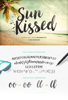 tutorial for learning how to use the Sun Kissed Font and bonus pieces ... uses both illustrator and photoshop