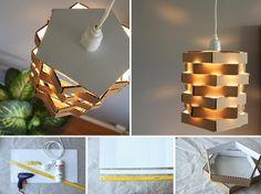 DIY: Závesné svietidlo z kartónu