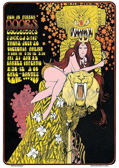 Doors 1960s Concert Poster by BobMasseStudios on Etsy, $25.00