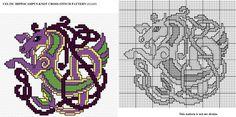 Celtic Hippocampus Knot X-stitch by Astraan.deviantart.com on @deviantART