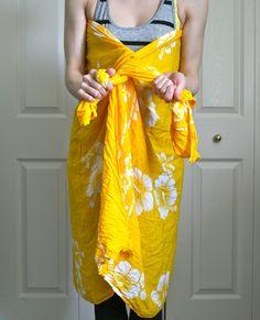 A no-sew beach wrap + 6 ways to wear a sarong or pareo!