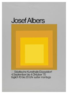 Poster forJosef Albers Exhibition 1970