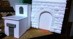Cómo realizar tu propio belén navideño paso a paso - Leroy Merlin Styrofoam Crafts, Christmas Nativity Scene, Miniature Crafts, Barbie House, Bible Art, Diorama, Portal, Projects To Try, Miniatures