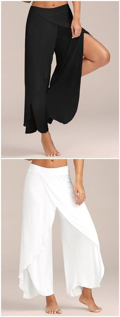 Capri slit in the legs. These are brand new Capri palazzo type pants with slits … - Hosen Cool Outfits, Fashion Outfits, Womens Fashion, Fashion Trends, Mode Style, Style Me, Pantalon Large, Pants For Women, Clothes For Women