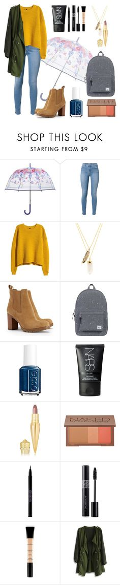 """Rainy Days - Back To School Outfit #7"" by bunas ❤ liked on Polyvore featuring Vera Bradley, 7 For All Mankind, H&M, Privileged, Tory Burch, Herschel Supply Co., Essie, NARS Cosmetics, Christian Louboutin and Urban Decay"