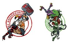 Harley Quinn And Poison Ivy Reimagined As Derby Girls [T-Shirt]