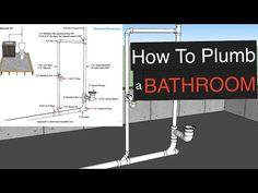 Plumbing Layout ferguson plumbing supply, plumbing kitchen sink water lines, plumbing courses nottin Small Basement Bathroom, Modern Bathroom Tile, Bathroom Plans, Bathroom Plumbing, Bathroom Tile Designs, Master Bathroom, Budget Bathroom, Bathroom Renovations, Bathroom Interior
