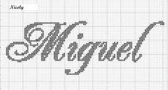 Resultado de imagem para graficos de nomes em ponto cruz pinterest