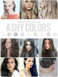 Ashy Hair Cool Tones