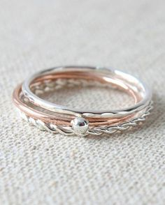 stackable rings bridesmaids gift