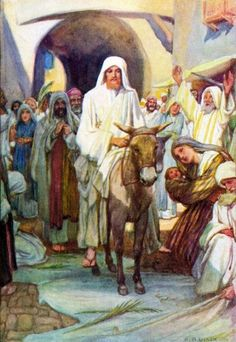 Free Bible Images Of Jesus Riding Triumphantly Into