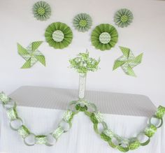 Shop for on Etsy, the place to express your creativity through the buying and selling of handmade and vintage goods. Chevron Paper, Green Chevron, Party Decoration, Green Party, Zig Zag, Kit, Party Supplies, Crochet Necklace, Unique Jewelry
