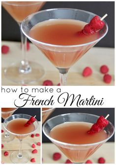 Martini Recipes, Drinks Alcohol Recipes, Cocktail Recipes, Drink Recipes, Cooking Recipes, French Cocktails, French Martini, Winter Cocktails, Summer Drinks